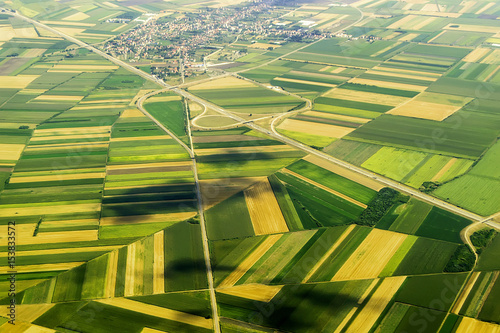 Wall Murals Air photo View of the earth from height of bird's flight, in the summer afternoon