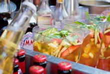 Pimm's Outdoor Summer Bar. Beer, Wine Drinks Service