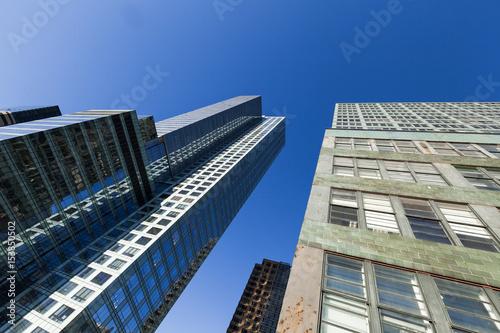 Poster London New-York Skyscrapers