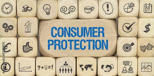 Fotografie, Obraz  Consumer Protection / Würfel mit Symbole