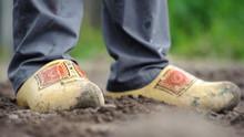Dutch Clogs On The Feet Of A W...