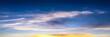 Sky Blue And Sun. Cumulus Clouds. Blue Sky Background.