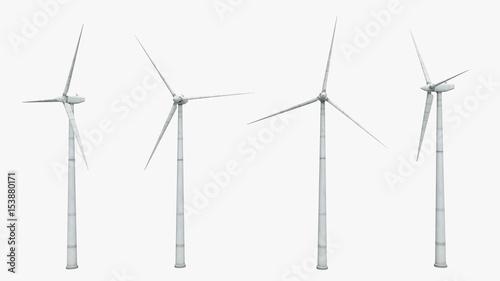 Fényképezés  Windkraftanlage - Freisteller