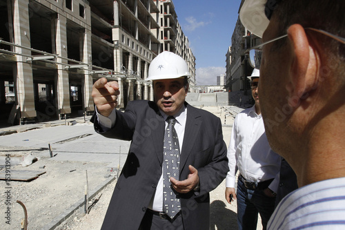 CEO Of Abdali Investment And Development PSC Mouhib Itani Speaks With A Reuters Reporter At The