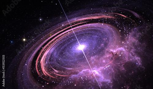 Fotografia, Obraz  Pulsar highly magnetized rotating neutron star, Supermassive star with X-rays an