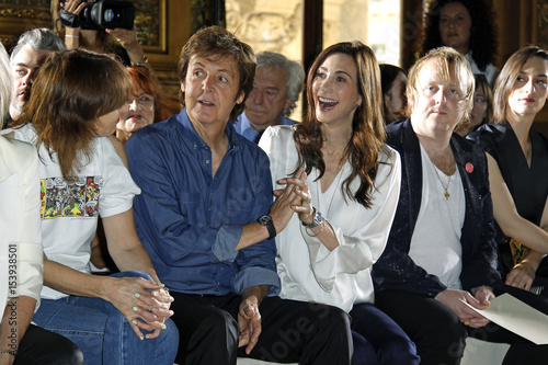 Paul McCartney And Nancy Shevell Attend Stella McCartneys Spring Summer 2012 Womens Collection During Paris