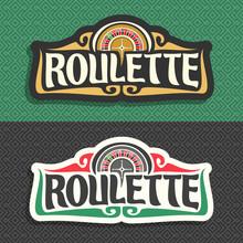 Vector Logo For Roulette Gambl...
