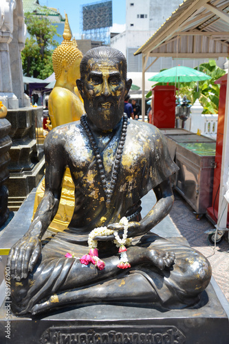 Foto op Aluminium Draken Wat Traimit Golden Buddha Temple in Bangkok, Thailand