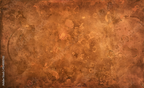 Photo Weathered copper background