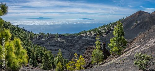 Tuinposter Canarische Eilanden Teide view from La Palma volcanos