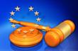 canvas print picture - European Union Law Gavel Concept 3D Illustration