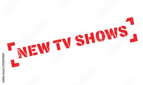 New Tv Shows rubber stamp Fototapet
