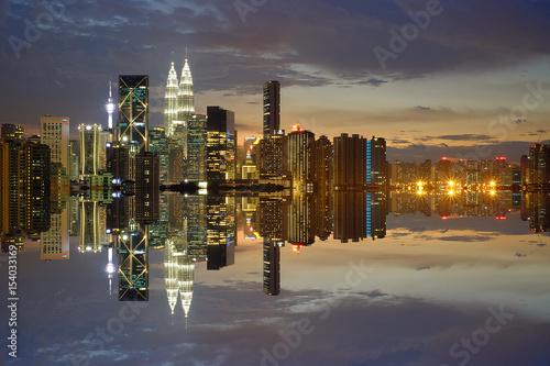 Photo  Beauty Reflection Of Kuala Lumpur City.