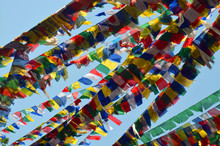 Colorful Buddhism Prayer Flags...