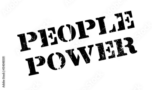 Fotografie, Tablou  People Power rubber stamp