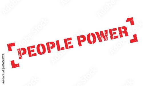 Fotografie, Tablou  People Power rubber stamp