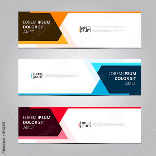 Vector abstract design banner web template. – kaufen Sie diese ...