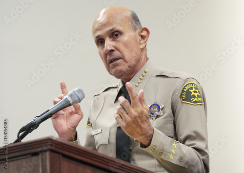 Los Angeles County Sheriff Lee Baca holds a news conference