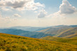 Summer Carpathians and Clouds in the Sky