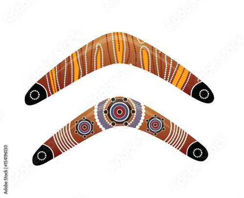 Australian boomerang vector. Tapéta, Fotótapéta