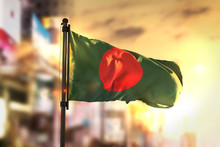Bangladesh Flag Against City B...