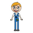 mechanic worker with overalls vector illustration design