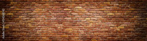 Photo sur Toile Brick wall panoramic view of masonry, brick wall as background