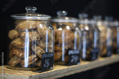 Tableau sur Toile The cookies in glass jar