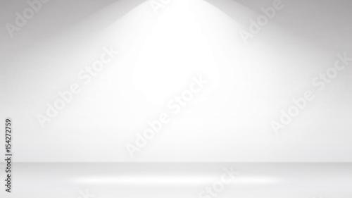 Empty White Photo Studio Interior Background. Realistic Empty White Wall. Vector Illustration.