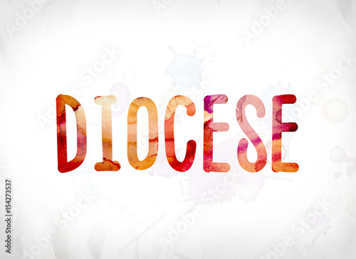 Diocese Concept Painted Watercolor Word Art Canvas Print