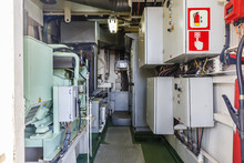 Room Of Fire Safety On The Ship