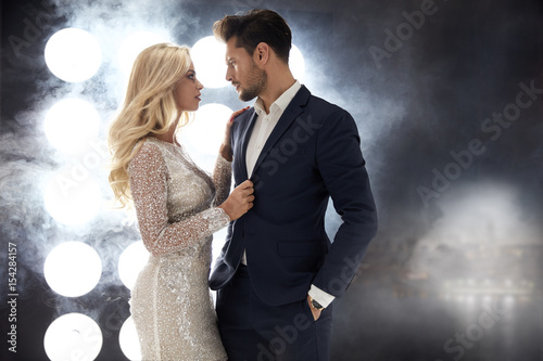Poster Artist KB Romantic style portrait of an elegant couple