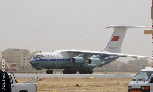 A Chinese People's Liberation Army Air Force Il-76 MD transport