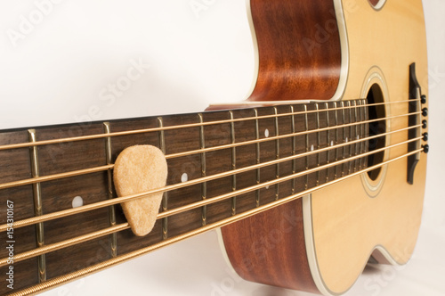 Fotografie, Obraz  Guitar Strings and Pick