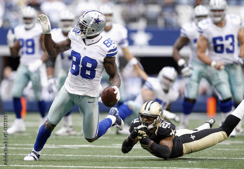 Cowboys Wide Receiver Dez Bryant Runs After The Catch After