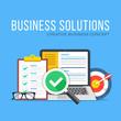 Business solutions. Flat design graphic elements set. Modern concepts. Vector illustration