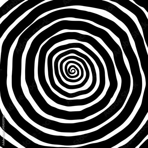 Zdjęcie XXL Ilustracja spirali, tło. Hipnotyczny, dynamiczny wir.