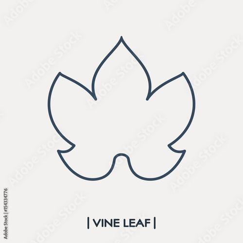 Vine leaf outline icon. Grape leaf Fototapete