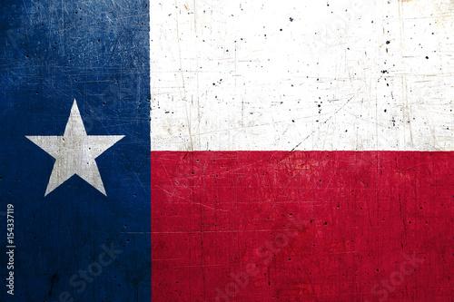 Foto op Plexiglas Texas Flag of Texas, USA, with metal texture