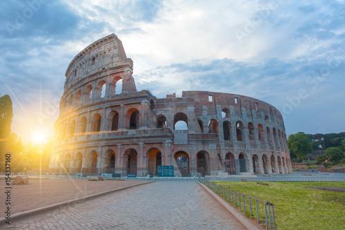 Poster Rome Sunrise at Rome Colosseum (Roma Coliseum), Rome, Italy