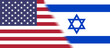 Flag of USA and Israel together