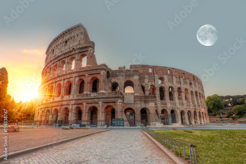 Spoed Foto op Canvas Rome Sunrise at Rome Colosseum (Roma Coliseum), Rome, Italy