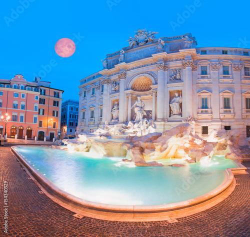 Garden Poster Rome Trevi Fountain (Fontana di Trevi) in Rome, Italy.