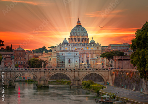 Printed kitchen splashbacks Rome St. Peter's cathedral in Rome, Italy