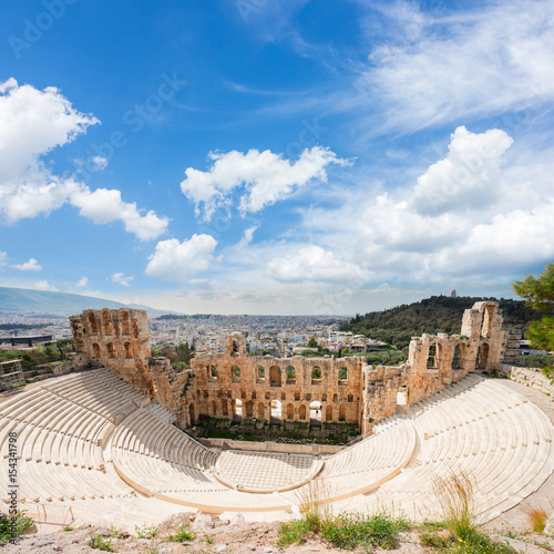 Recess Fitting Athens view of Herodes Atticus amphitheater of Acropolis, Athens, Greece
