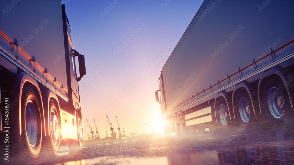 Fototapeta Truck Delivery Express
