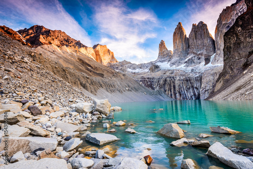 Printed kitchen splashbacks Purple Torres del Paine, Patagonia, Chile
