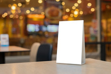 Mock Up Label The Blank Menu F...