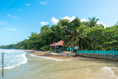 Photo Stands Caribbean Cahuita - National park with beautiful beaches and rainforest in Costa Rica