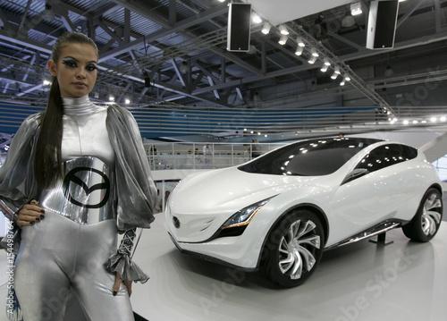 A New Mazda Kazamai Concept Car Is Seen At The Moscow Auto Salon